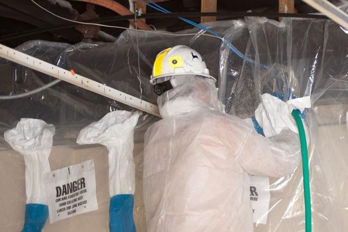 Image of Asbestos Abatement Using Glove Bags